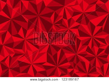 Low poly style vector red low poly design low poly style illustration Abstract low poly background vector