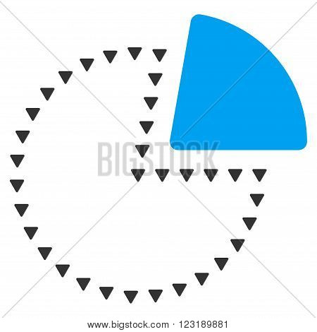 Dotted Pie Chart vector icon. Dotted Pie Chart icon symbol. Dotted Pie Chart icon image.