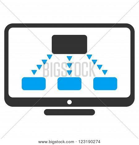Hierarchy Monitoring vector icon. Hierarchy Monitoring icon symbol.