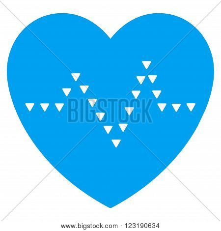 Dotted Heart Pulse vector icon. Dotted Heart Pulse icon symbol. Dotted Heart Pulse icon image.