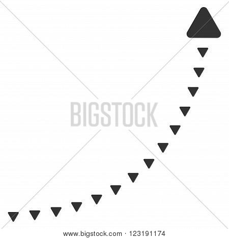 Dotted Growth Line vector icon. Dotted Growth Line icon symbol.