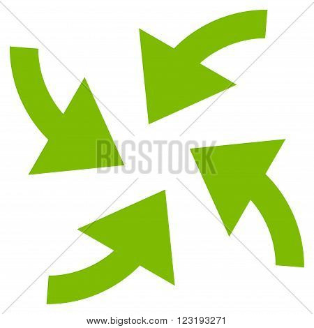 Cyclone Arrows vector icon. Style is flat icon symbol, eco green color, white background.