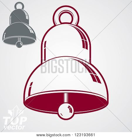 Vector 3D Festive Bell, Additional Version Included. Eps 8 High Quality Vector Illustration. Ring Sm