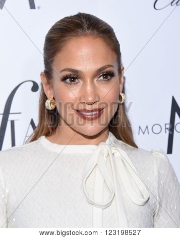 LOS ANGELES - MAR 20:  Jennifer Lopez arrives to the 2nd Annual Fashion Los Angeles Awards  on March 20, 2016 in Hollywood, CA.