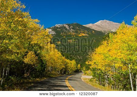 Colorado Fall Country Road