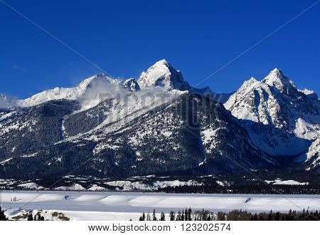 Buck Mountain in the Grand Teton Mountain Range