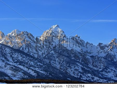Buck Mountain - Grand Tetons in Grand Tetons National Park in Wyoming USA