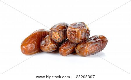 Date palm isolated on the white background.