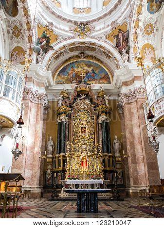 Exquisite Interior of church, Wieskirche - Steingaden, Germany