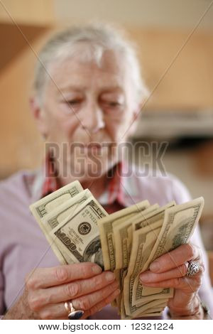 Senior woman budget