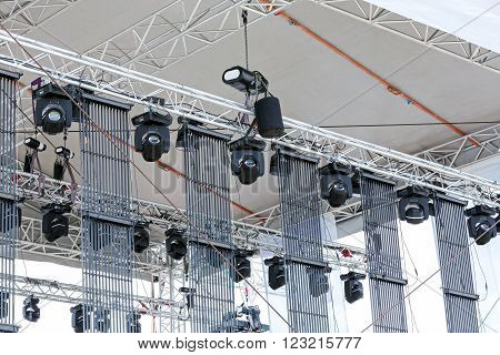 Concert Lighting On Stage
