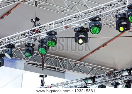 Outdoor Stage With Spotlights