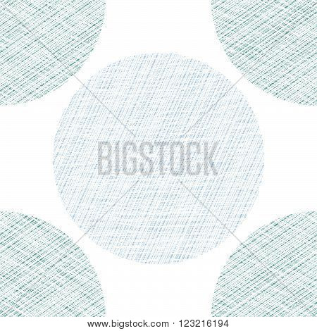 Abstract pattern. Scratched circles. Seamless background. Geometric backdrop. Grunge texture with scratches. Cold light colors. For wallpaper or printing on fabric.