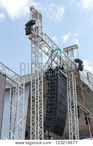 Preparations For Music Festival