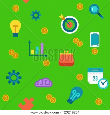 Endless colored cartoon flat startup and progress background.