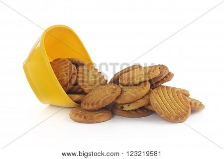Indian Sweet biscuits with Nuts in Bowl