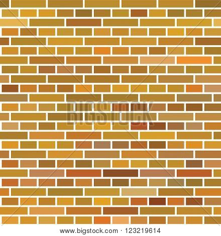 Red brown brick wall seamless vector illustration background texture pattern for continuous replicate