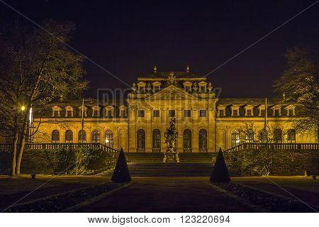 building of Orangerie in Fulda at evening, Germanyv