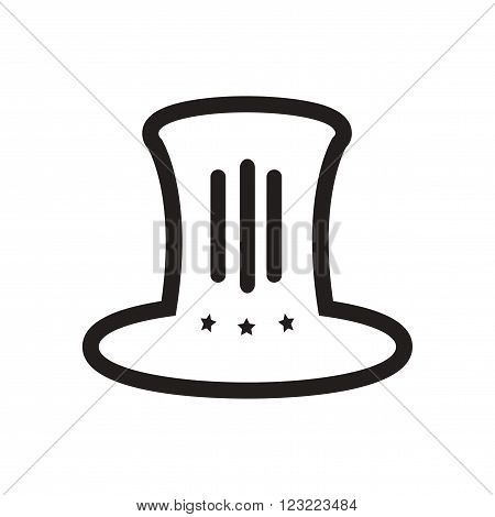 stylish black and white icon hat Lincoln