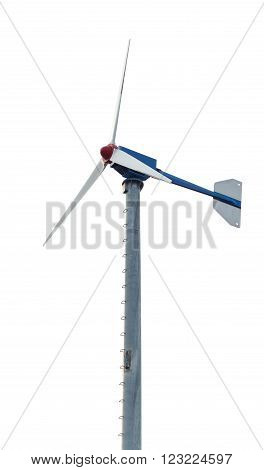 Wind turbine isolaion on white background photo