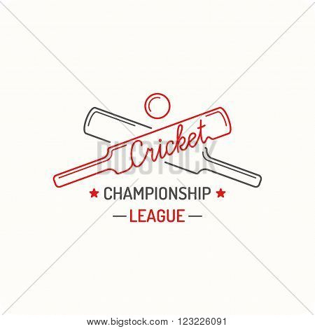 Concept Logo Cricket