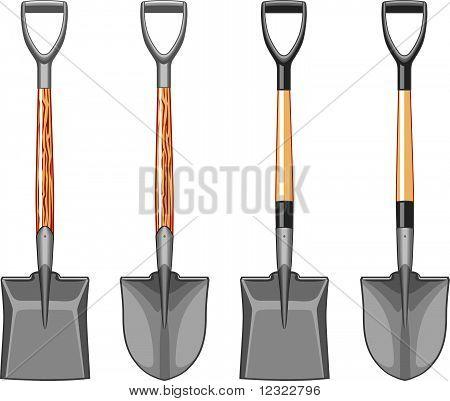 Short Handle Shovel And Spade Stock Vector Amp Stock Photos