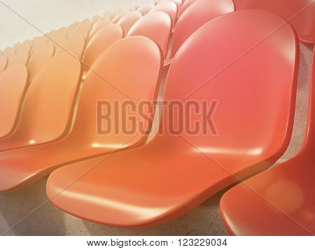 Red Plastic Seats
