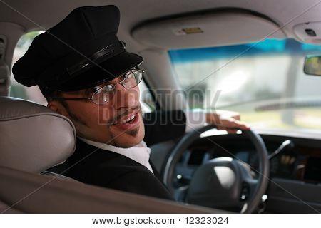 Handsome chauffeur