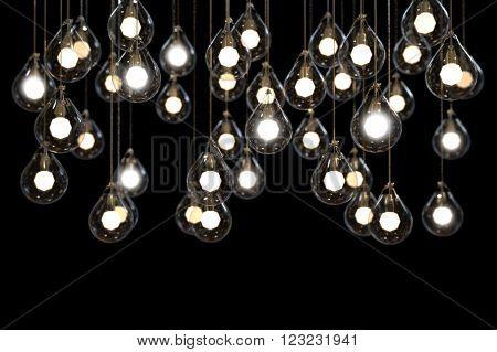 Lightbulbs and Lamps power light idea Creativity and Concept modern Art on ?Background