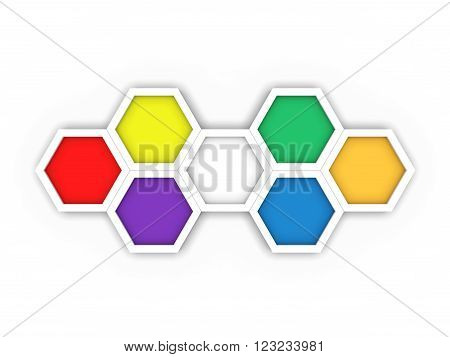 Octagon template layout for business - 3D Rendering