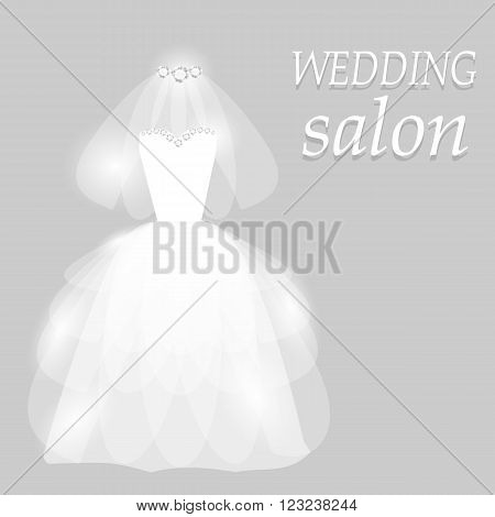 Wedding invitation. Wedding card. Vector illustration. EPS 10