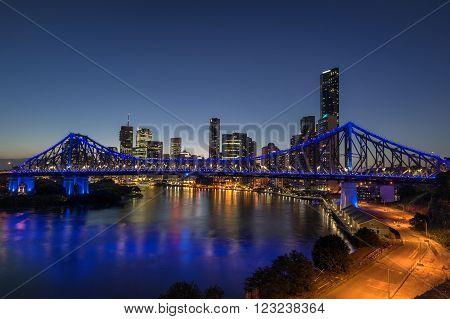 The Story Bridge over the Brisbane River