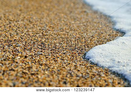 Tidal Wave On A Clean, Sandy, Sea Beach