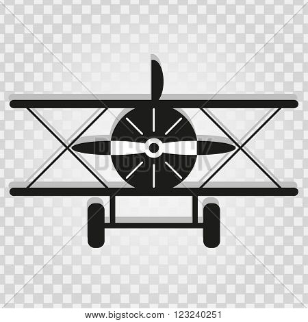 monochrome plane with a shadow on a light background abstract symbol vector illustration abstract high quality