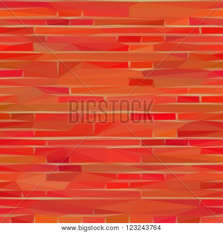 Abstract Background, Red and Orange Low Poly Design. Vector