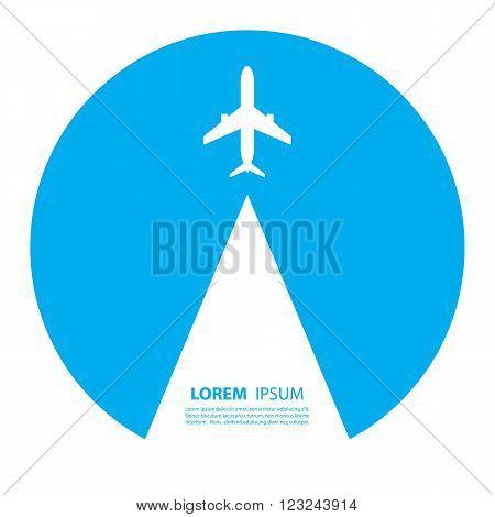 Airplane logo design. Airline logo design. Sky travel, travel agency logo, vector logo template.