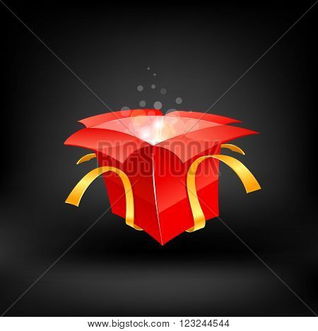 Gift. Vector illustration on whie background 10 eps.