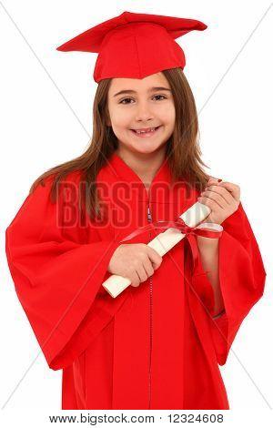 Proud School Girl Graduate Child