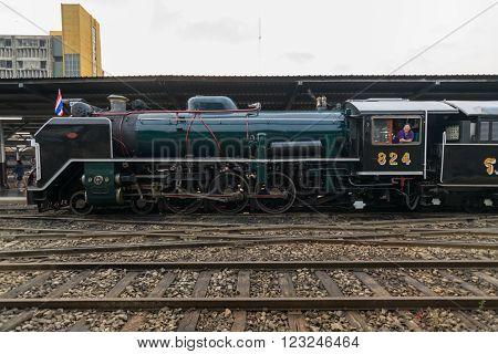 Steam Train At State Railway Of Thailand 119 Years Anniversary