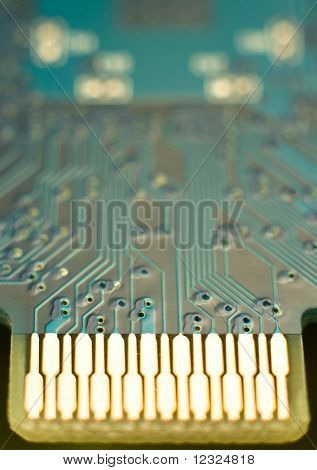 Turquoise Circuit Board Connector
