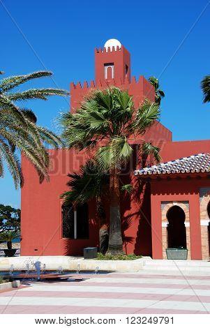 View of Bil Bil castle (Castillo Bil Bil) Benalmadena Costa del Sol Malaga Province Andalusia Spain Western Europe.