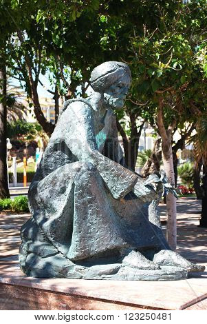 BENALMADENA, SPAIN - JUNE 2, 2008 - Statue of Ibn al Baytar, the distinguished botanist and Pharmacologist born in Benalmadena, Benalmadena, Andalusia, Spain, June 2, 2008.