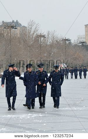 BAKU, AZERBAIJAN - JANUARY 31 2014 