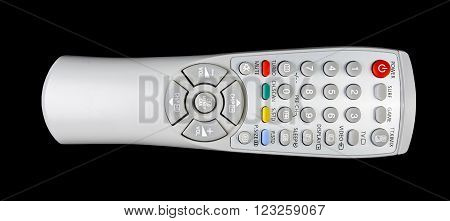 TV remote control isolated on black background