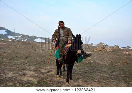 LOKBATAN, AZERBAIJAN - FEBRUARY 8 2014 