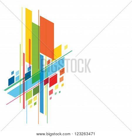 abstract colorful rectangle shape  background banner design vector