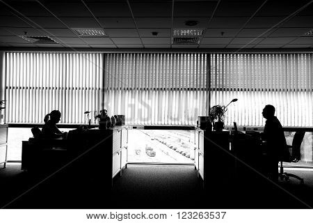 Personal working office room in business center