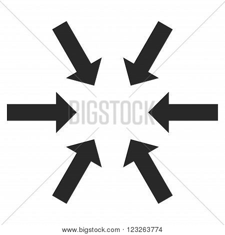 Compact Arrows vector icon. Compact Arrows icon symbol. Compact Arrows icon image. Compact Arrows icon picture. Compact Arrows pictogram. Flat gray compact arrows icon.