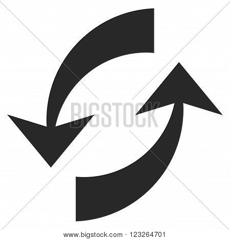 Exchange Arrows vector icon. Exchange Arrows icon symbol. Exchange Arrows icon image. Exchange Arrows icon picture. Exchange Arrows pictogram. Flat gray exchange arrows icon.