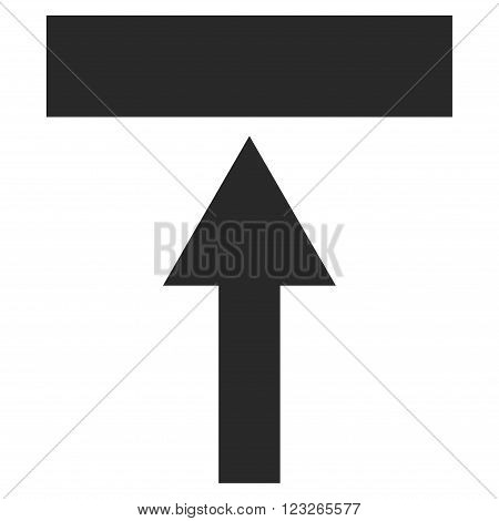 Move Top vector icon. Move Top icon symbol. Move Top icon image. Move Top icon picture. Move Top pictogram. Flat gray move top icon. Isolated move top icon graphic. Move Top icon illustration.